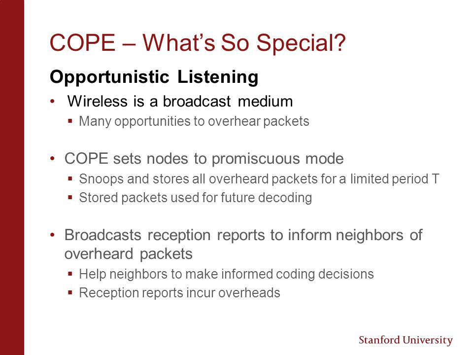 COPE – What's So Special