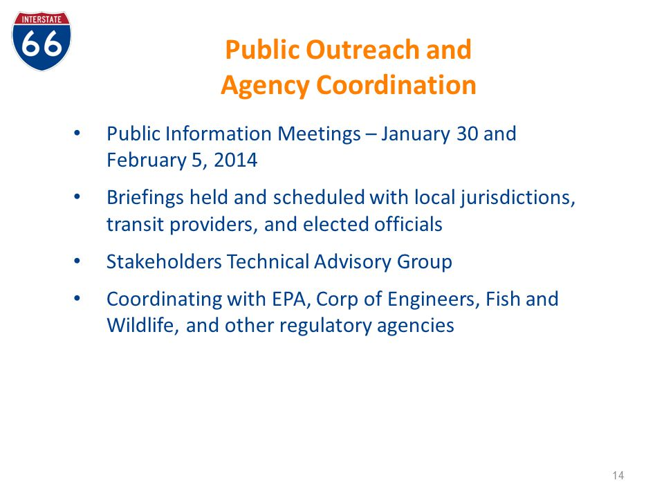 Public Outreach and Agency Coordination