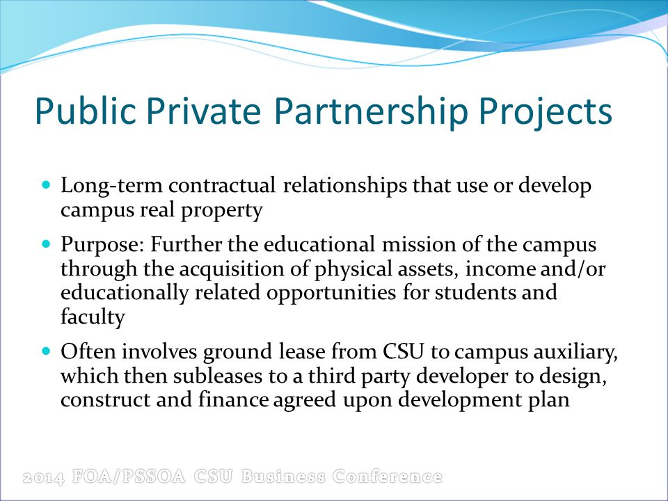 Public Private Partnership Projects