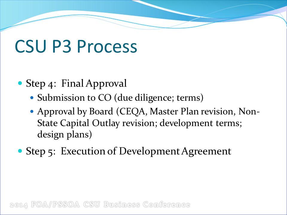 CSU P3 Process Step 4: Final Approval