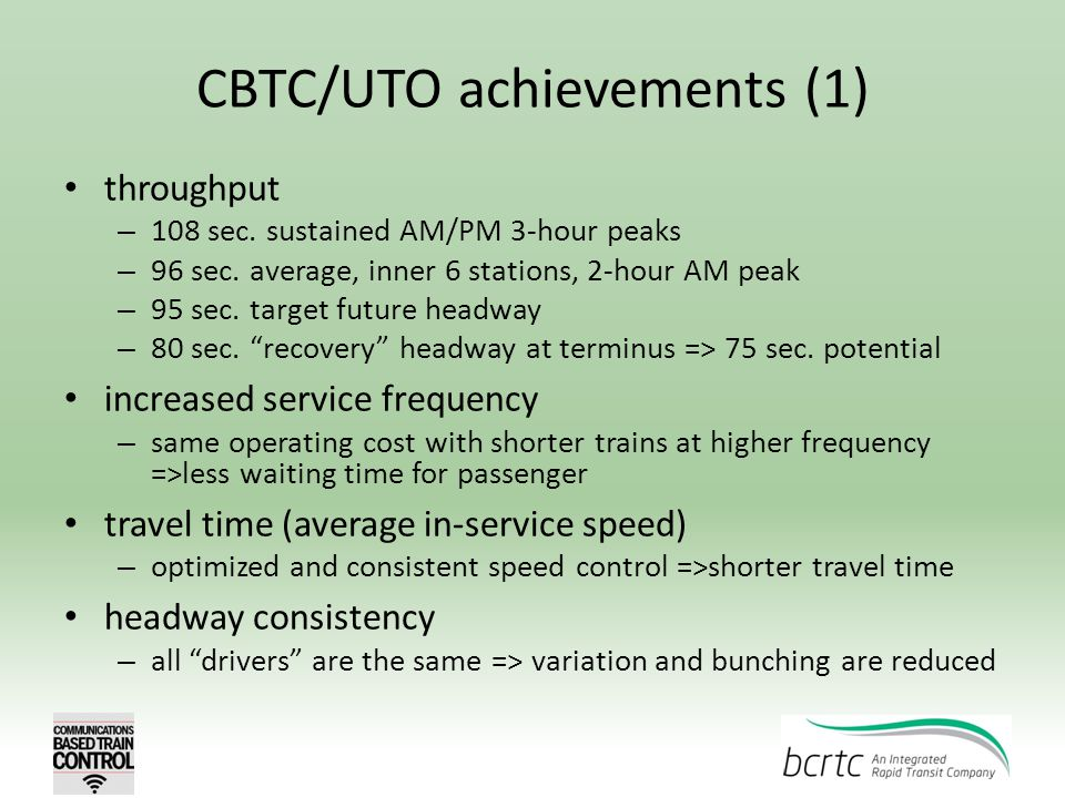 CBTC/UTO achievements (1)