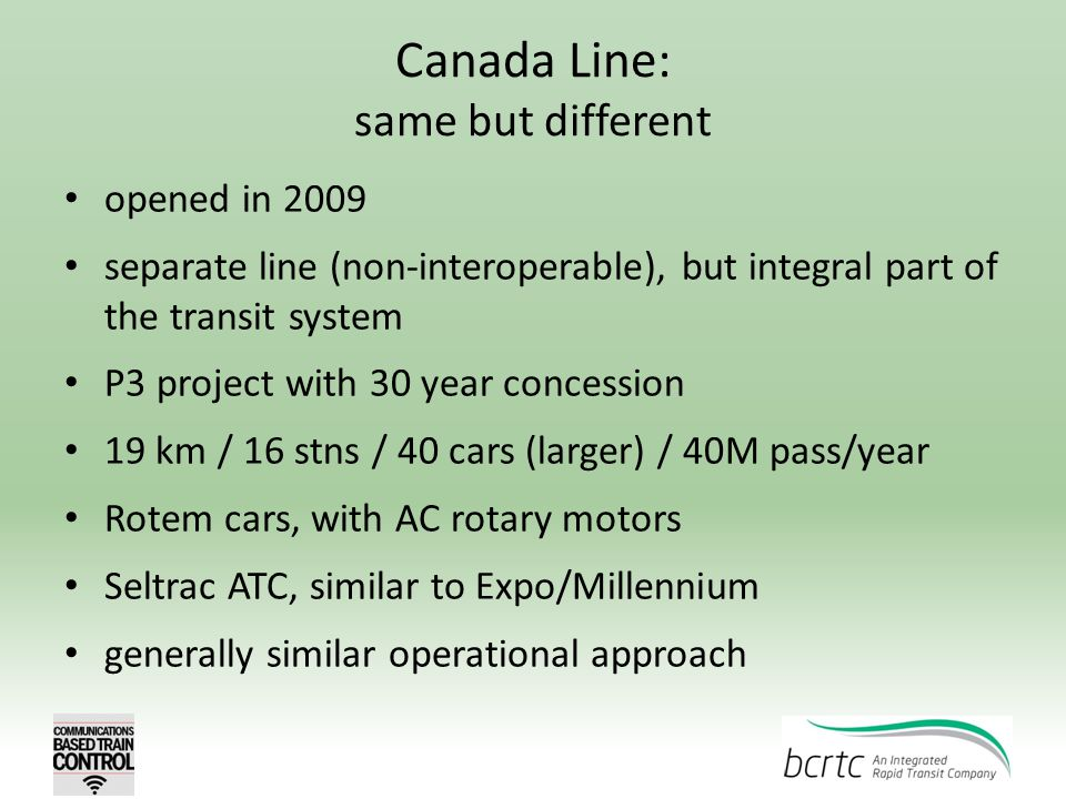 Canada Line: same but different