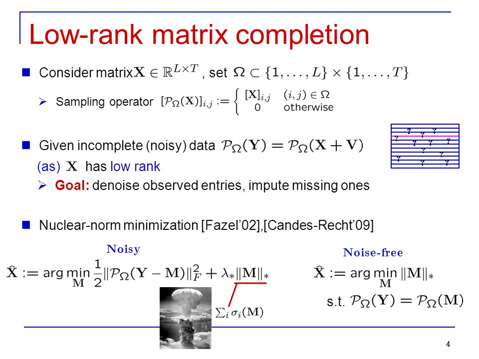 Low-rank matrix completion