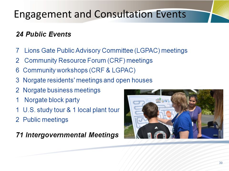 Engagement and Consultation Events