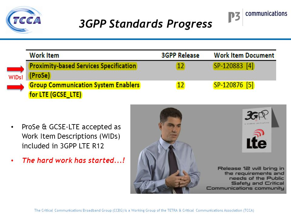 3GPP Standards Progress