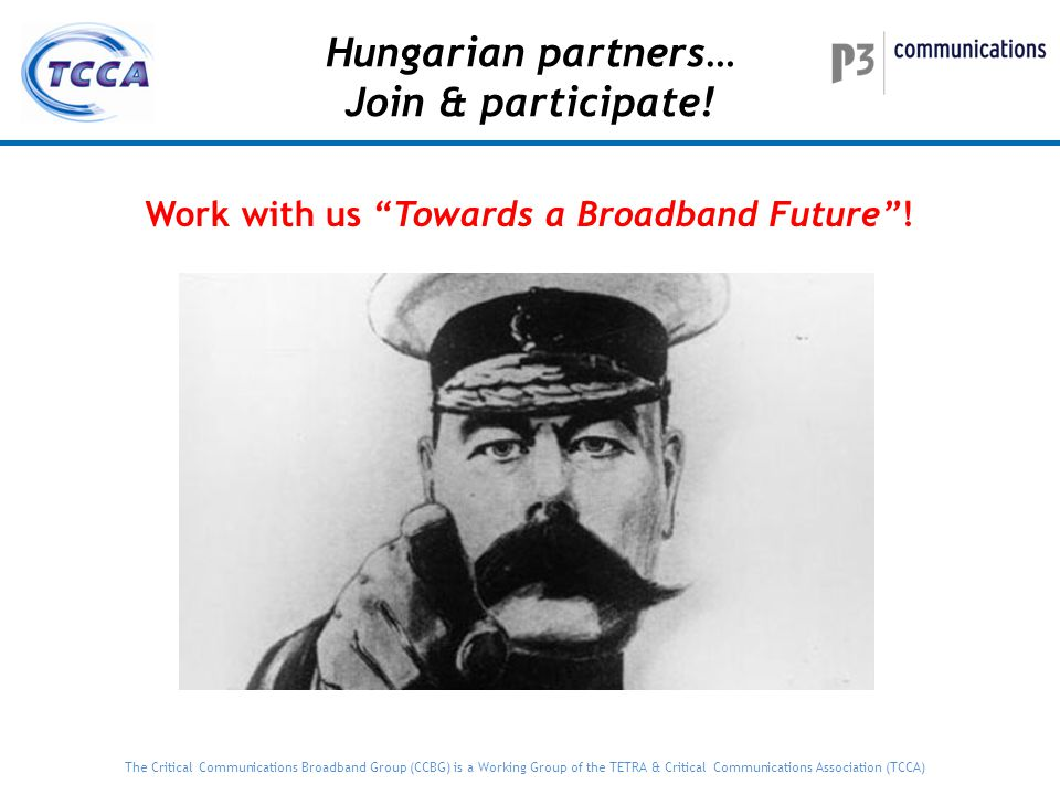 Work with us Towards a Broadband Future !