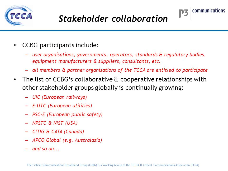 Stakeholder collaboration