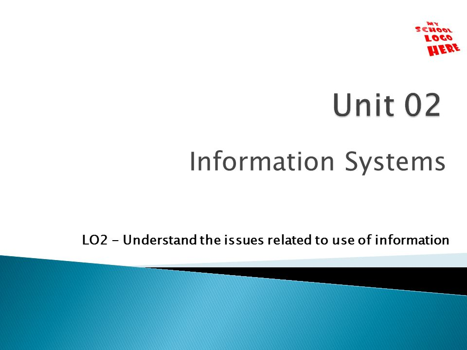 Unit 02 Information Systems