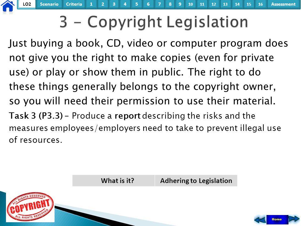3 - Copyright Legislation