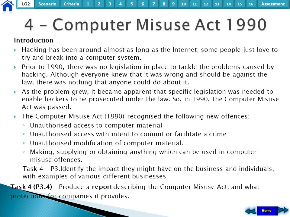 4 – Computer Misuse Act 1990 Introduction