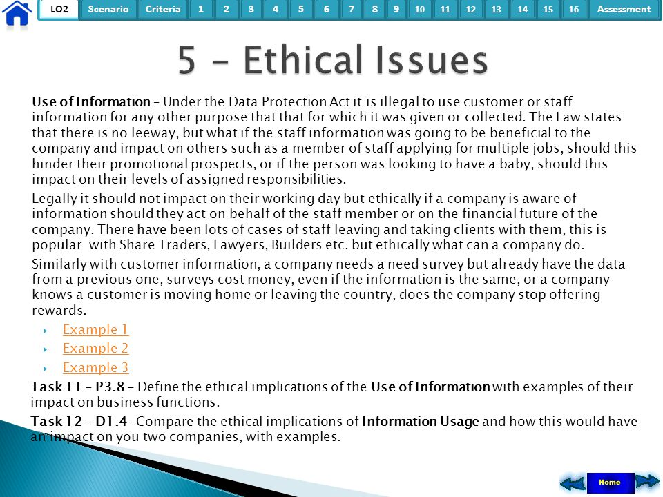 5 – Ethical Issues
