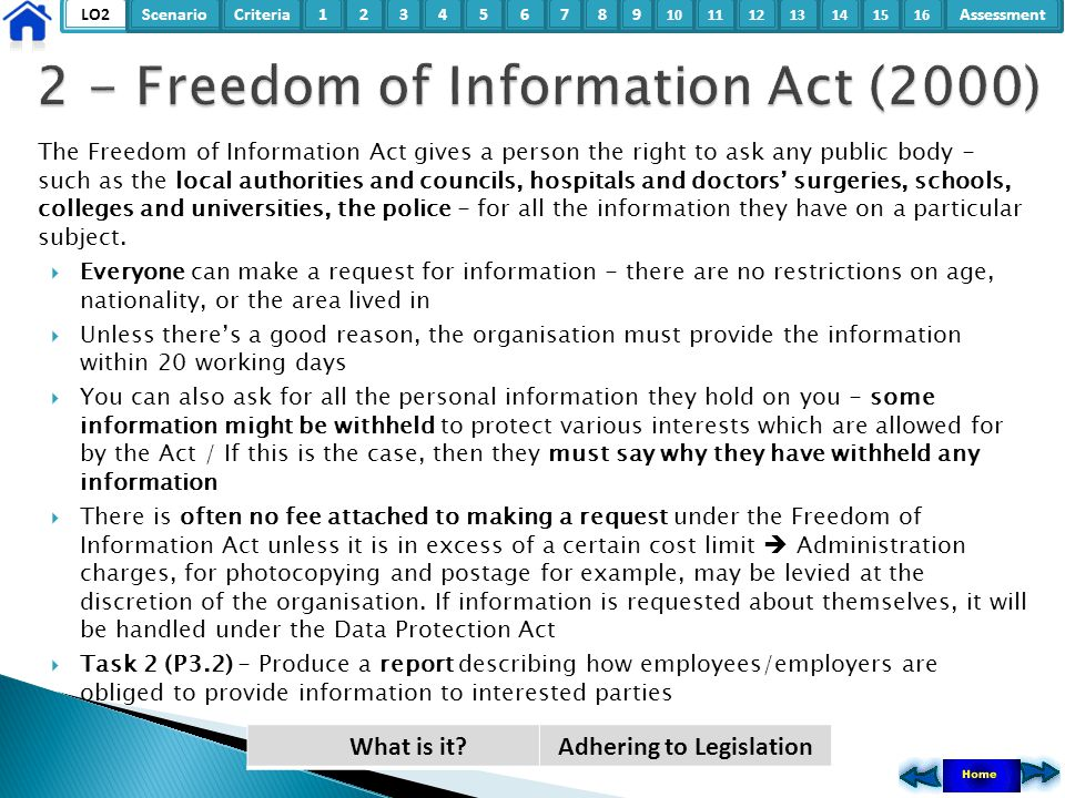 2 - Freedom of Information Act (2000)