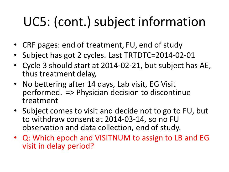 UC5: (cont.) subject information