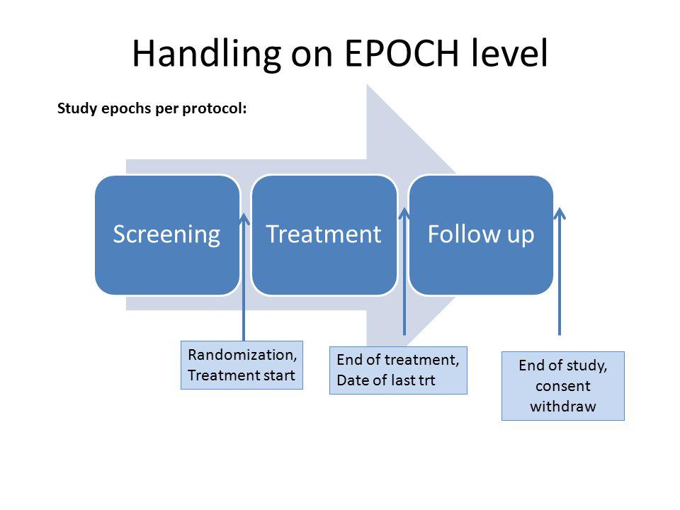 Handling on EPOCH level