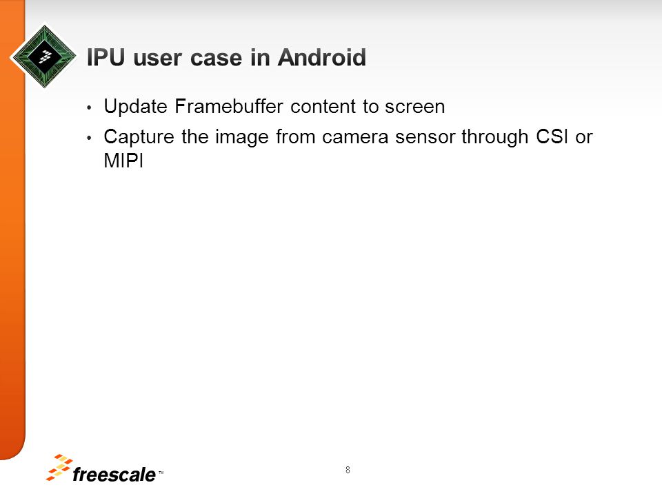 IPU user case in Android