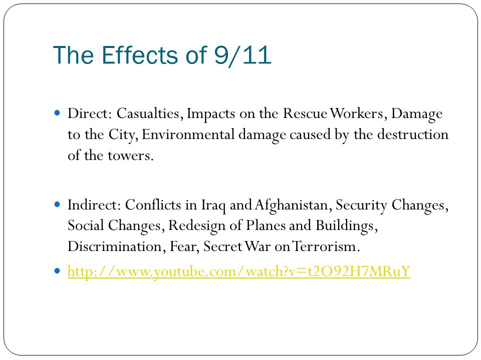 The Effects of 9/11