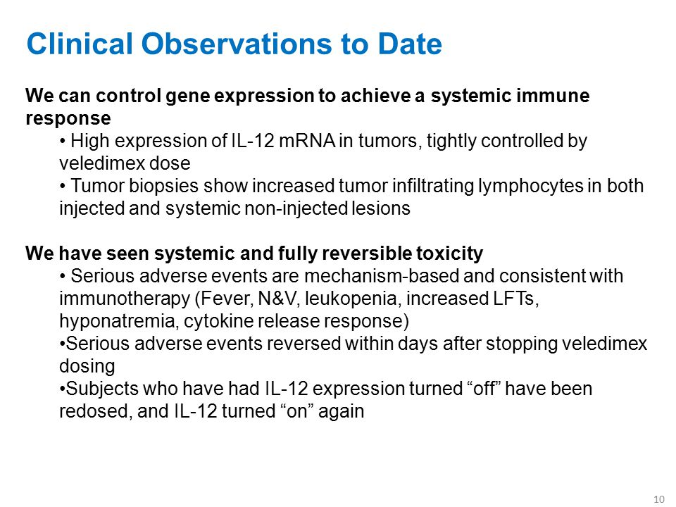 Clinical Observations to Date