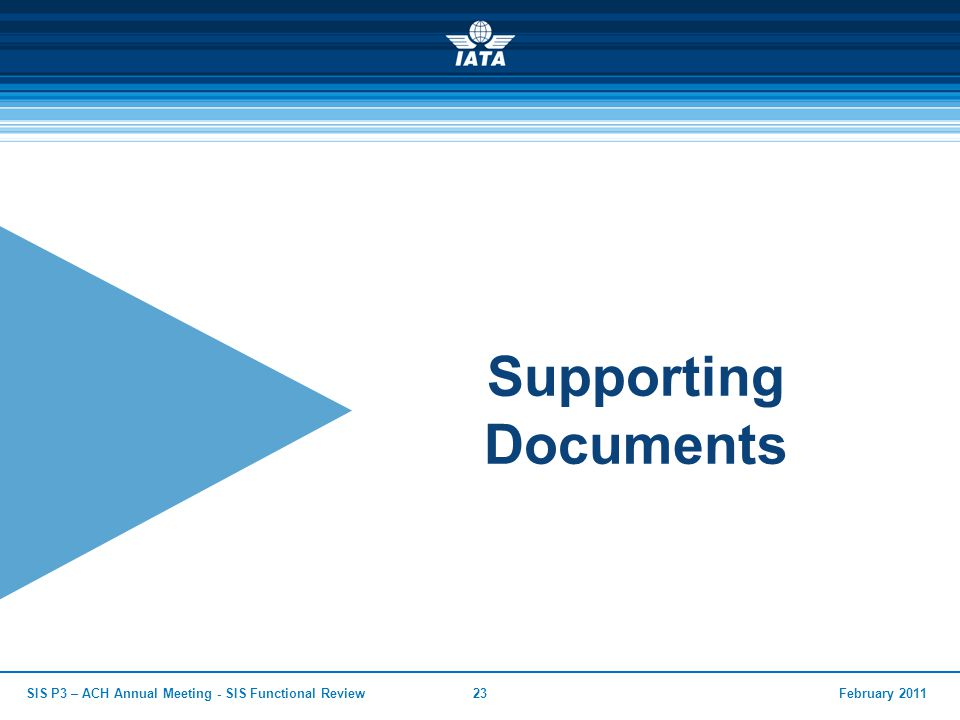 Supporting Documents SIS P3 – ACH Annual Meeting - SIS Functional Review February 2011