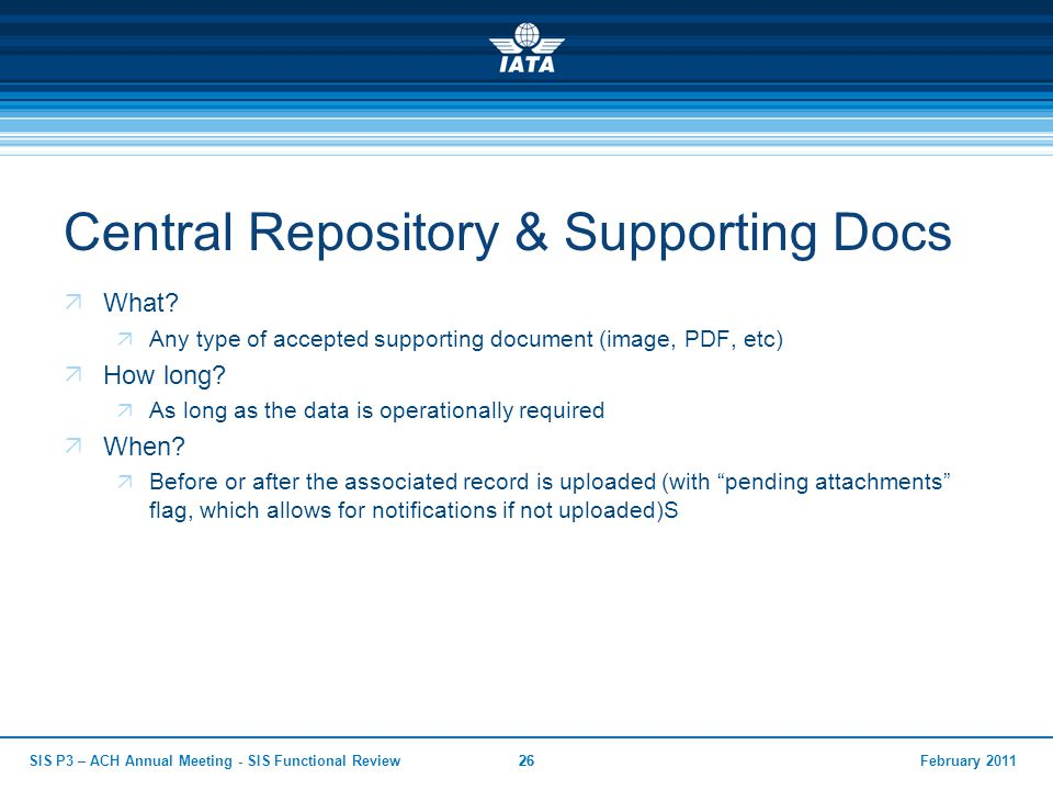 Central Repository & Supporting Docs
