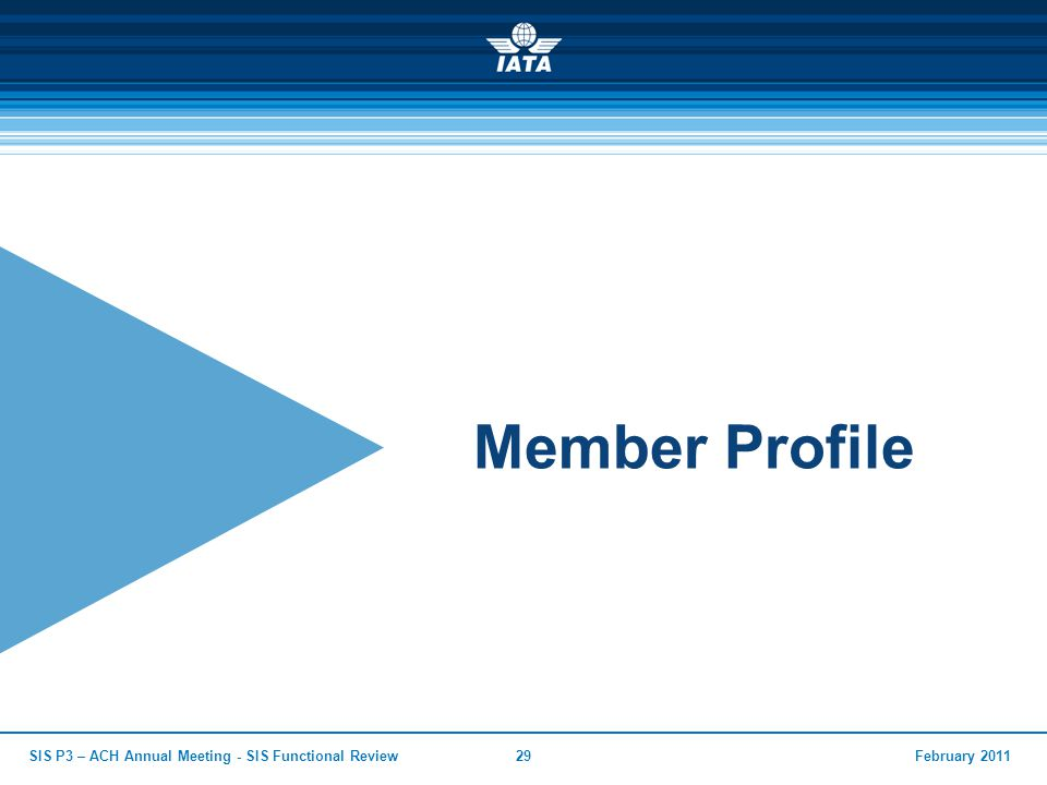 Member Profile SIS P3 – ACH Annual Meeting - SIS Functional Review