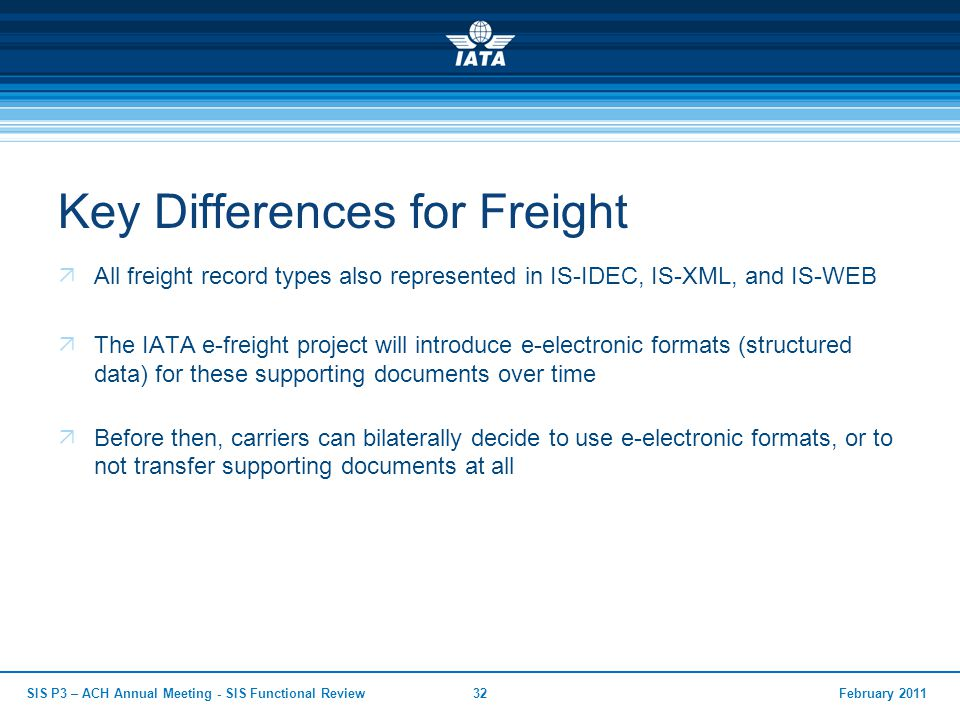 Key Differences for Freight