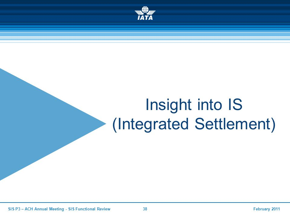 Insight into IS (Integrated Settlement)