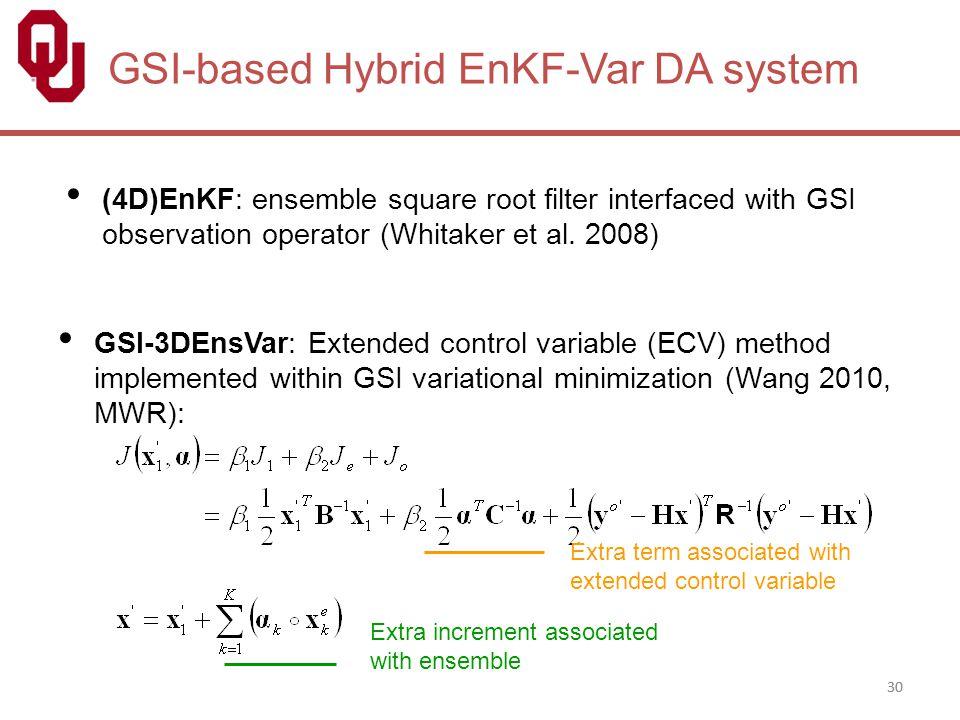 GSI-based Hybrid EnKF-Var DA system