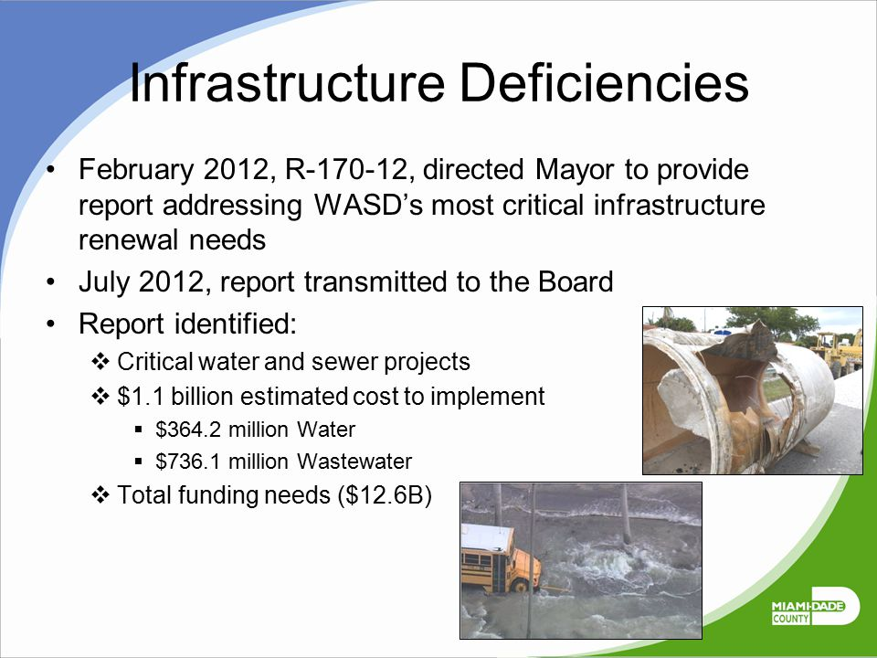 Infrastructure Deficiencies