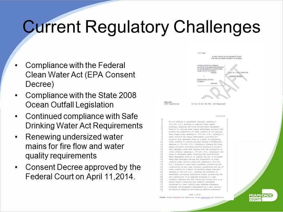 Current Regulatory Challenges