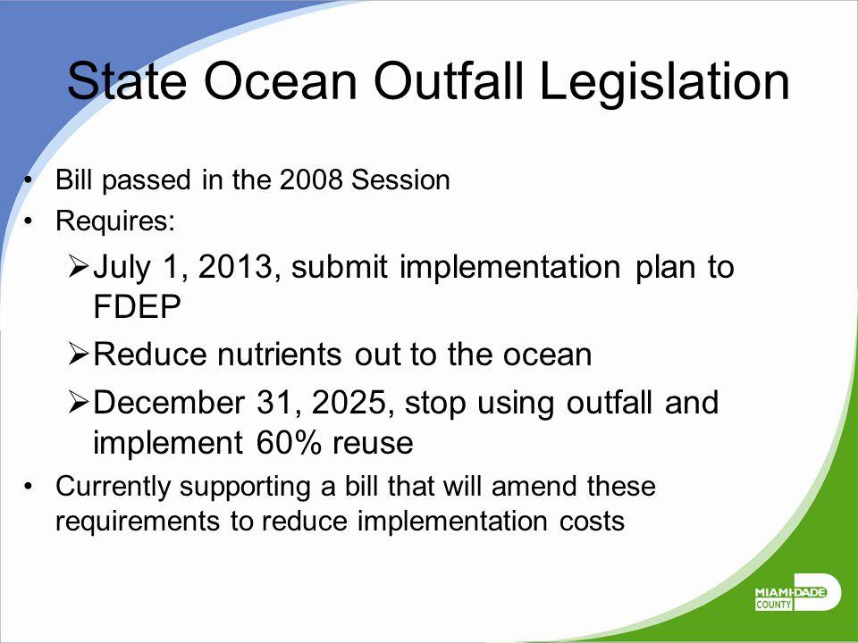 State Ocean Outfall Legislation