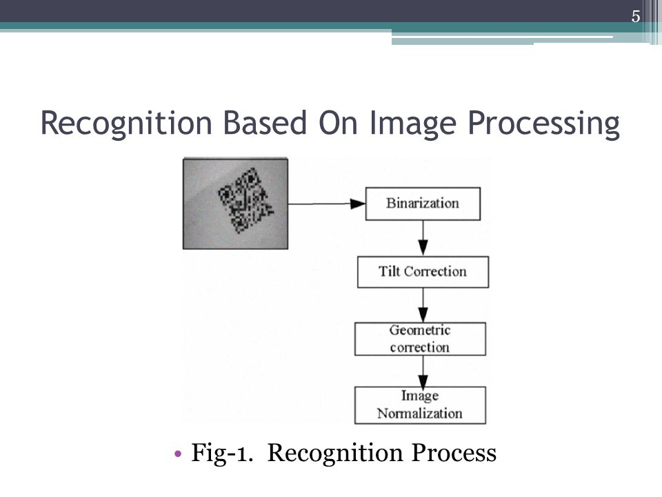Recognition Based On Image Processing