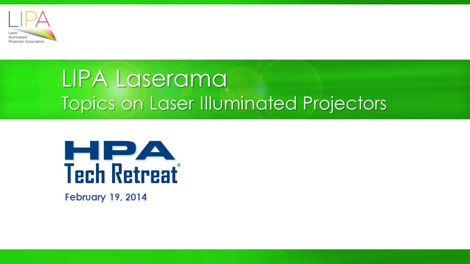 LIPA Laserama Topics on Laser Illuminated Projectors