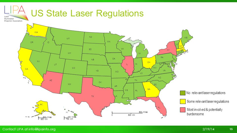 US State Laser Regulations