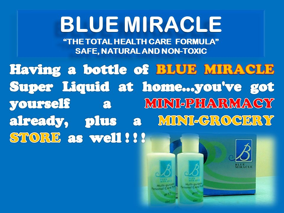 THE TOTAL HEALTH CARE FORMULA SAFE, NATURAL AND NON-TOXIC
