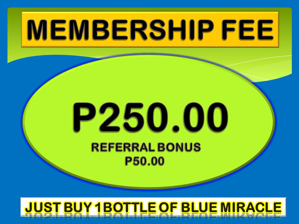 JUST BUY 1BOTTLE OF BLUE MIRACLE