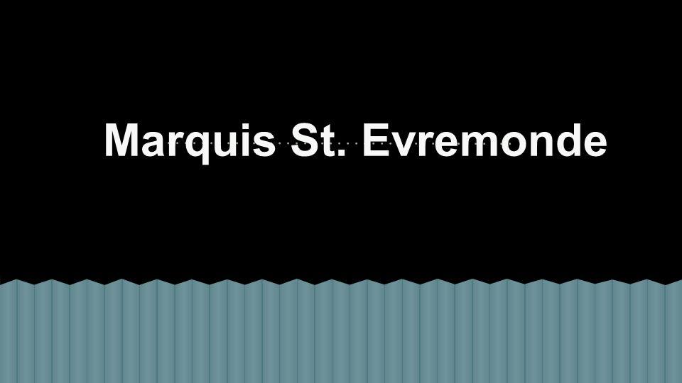 Marquis St. Evremonde