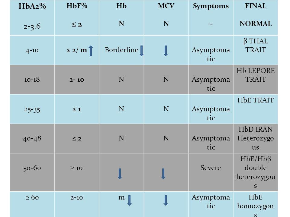 HbE/Hbβ double heterozygous