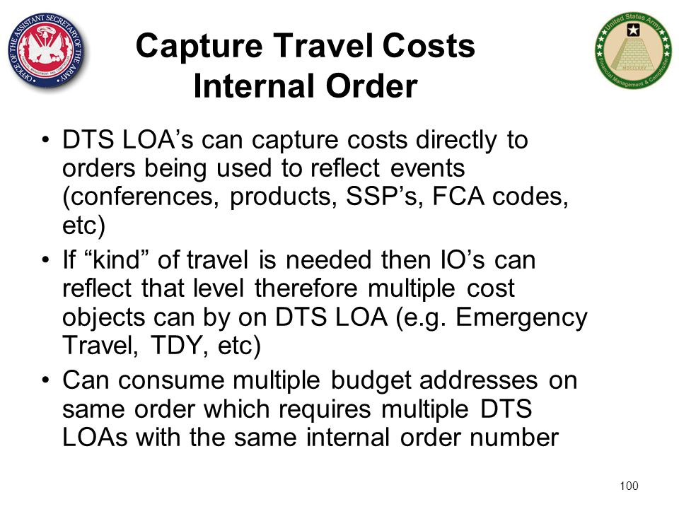 Capture Travel Costs Internal Order