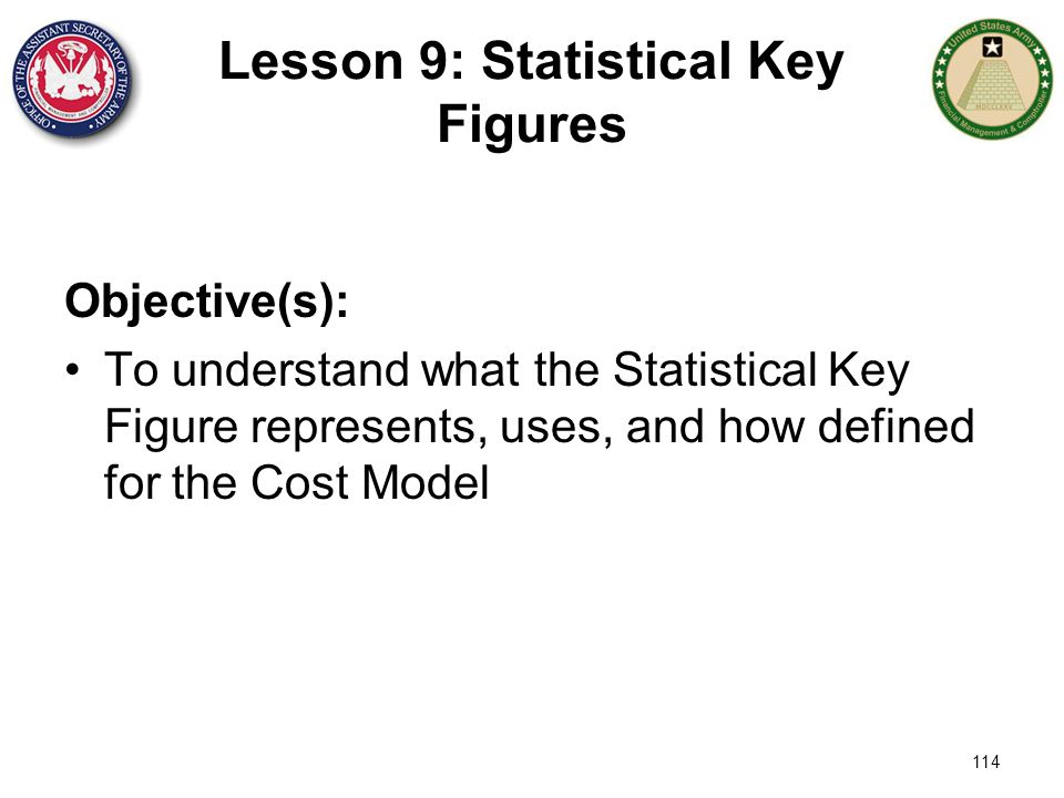 Lesson 9: Statistical Key Figures