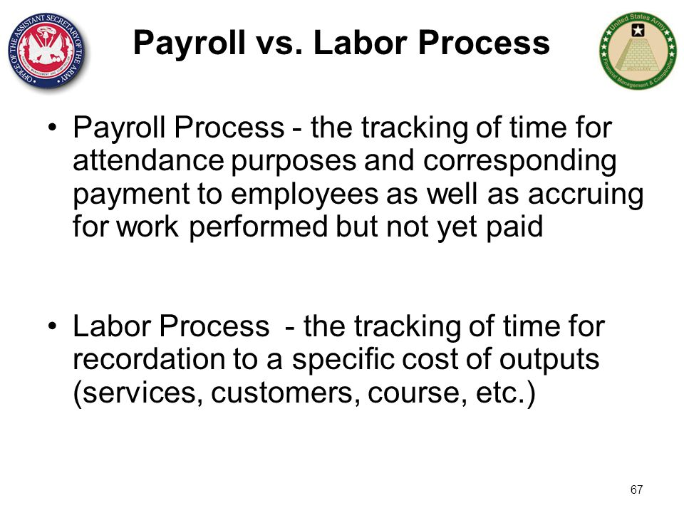 Payroll vs. Labor Process