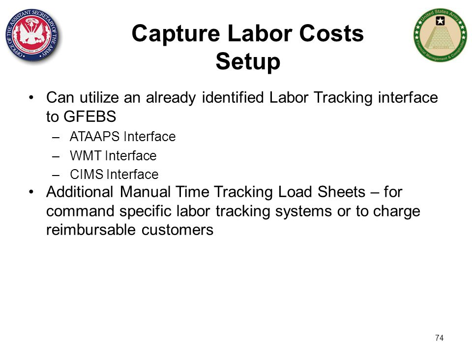Capture Labor Costs Setup