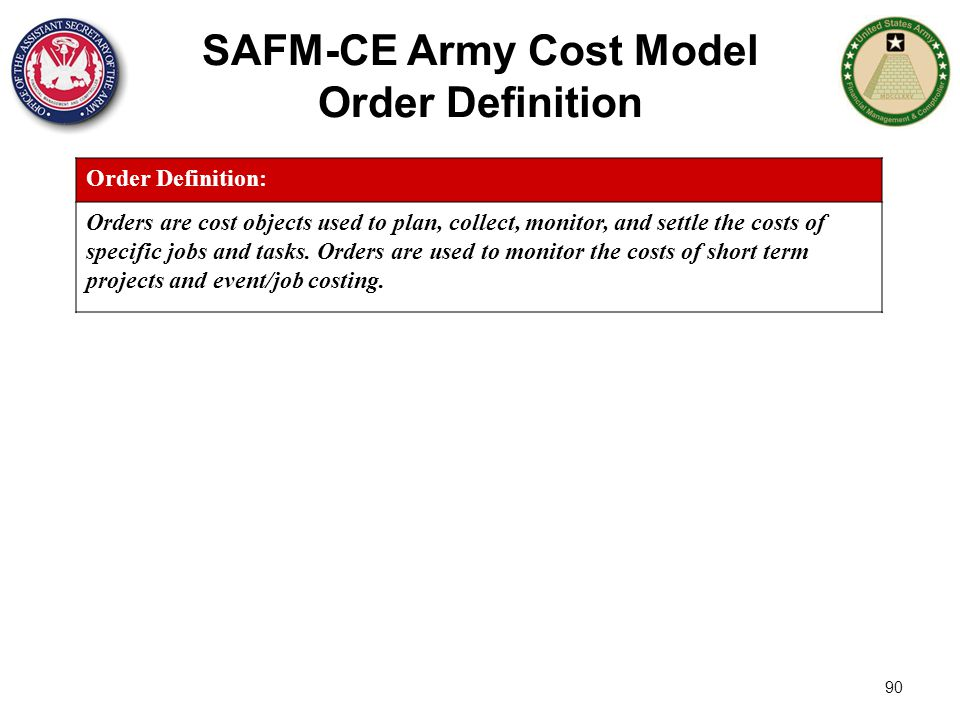 SAFM-CE Army Cost Model