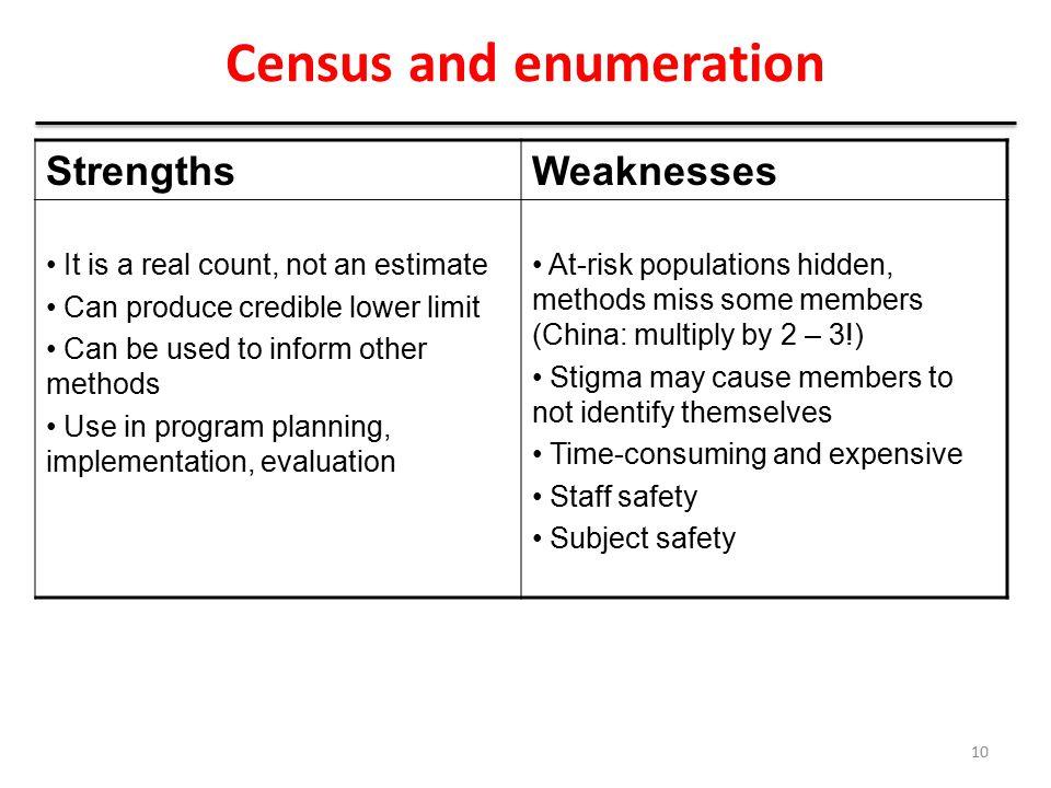 Census and enumeration