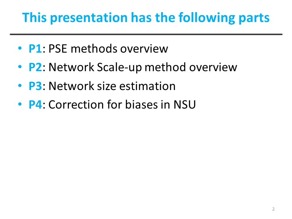 This presentation has the following parts