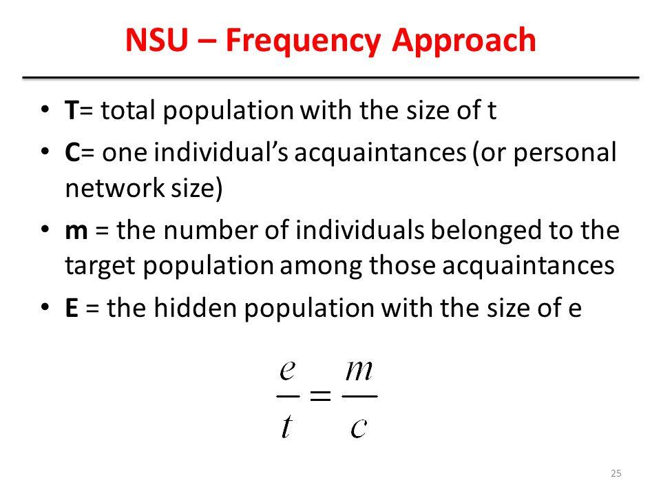 NSU – Frequency Approach