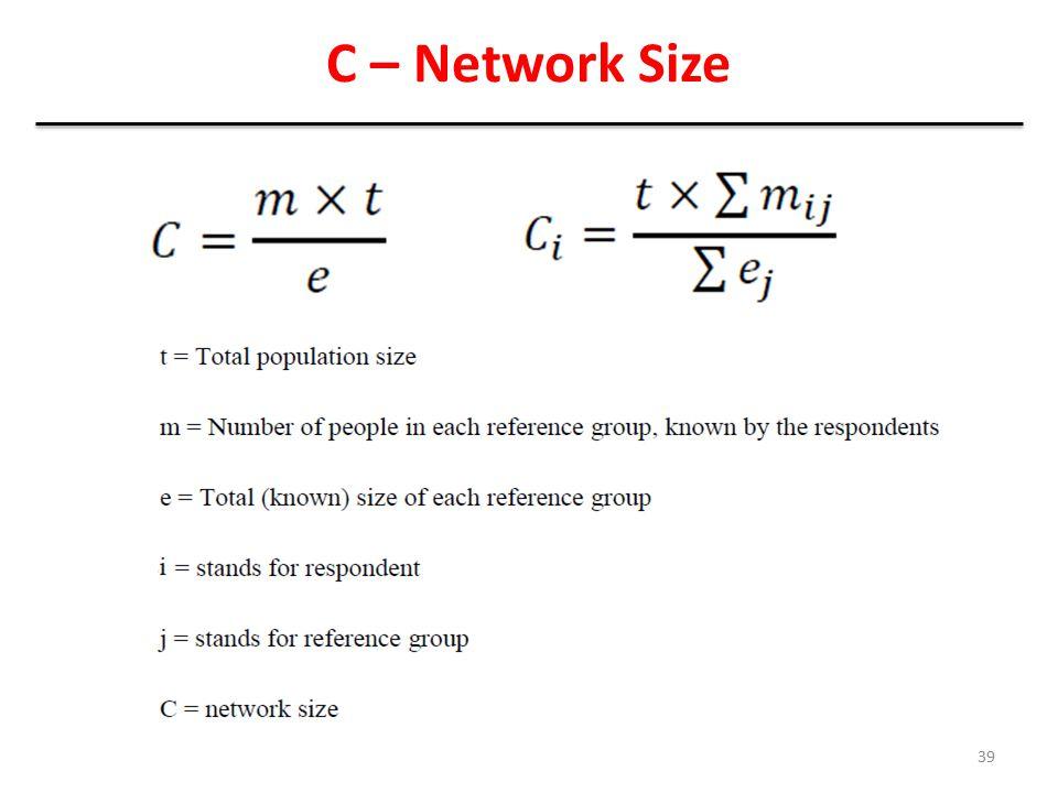 9/20/2013 C – Network Size NSU Workshop (Network Size Estimation - AAH)