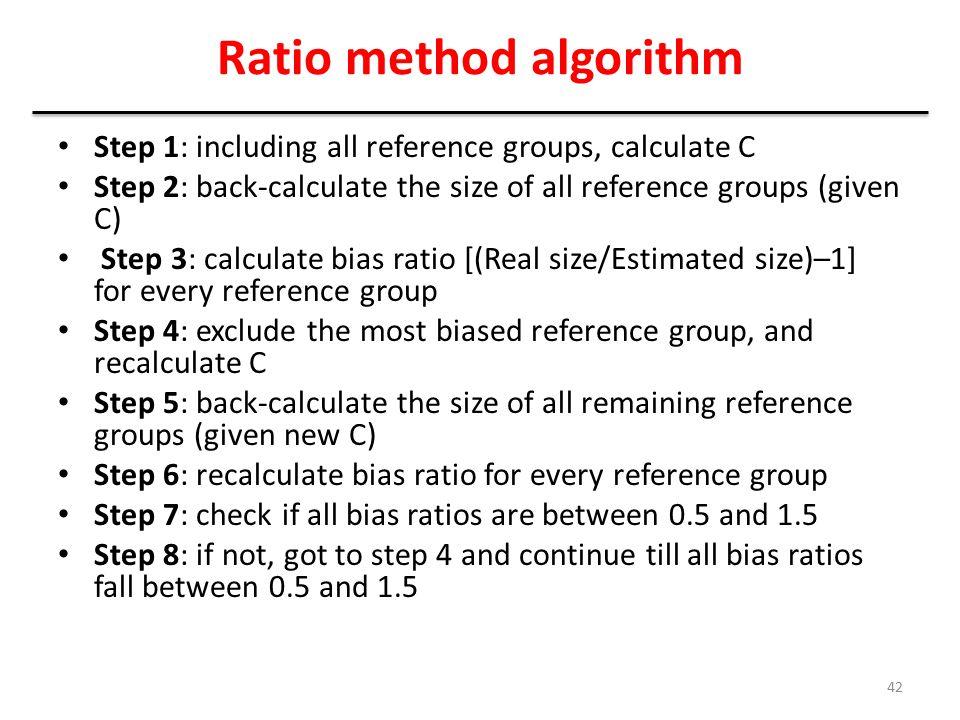 Ratio method algorithm