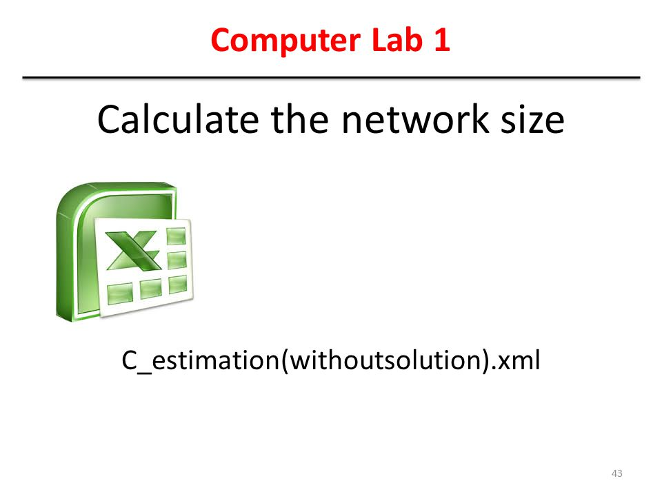 Calculate the network size