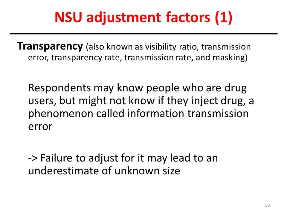 NSU adjustment factors (1)