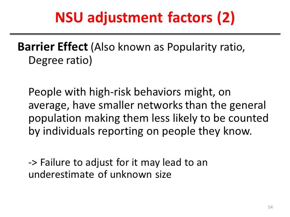 NSU adjustment factors (2)